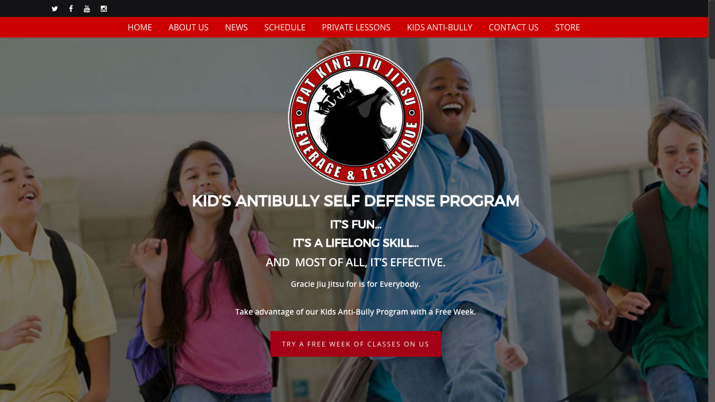 Royce Gracie Anti-Bully Program Design by Sylvia Guillen