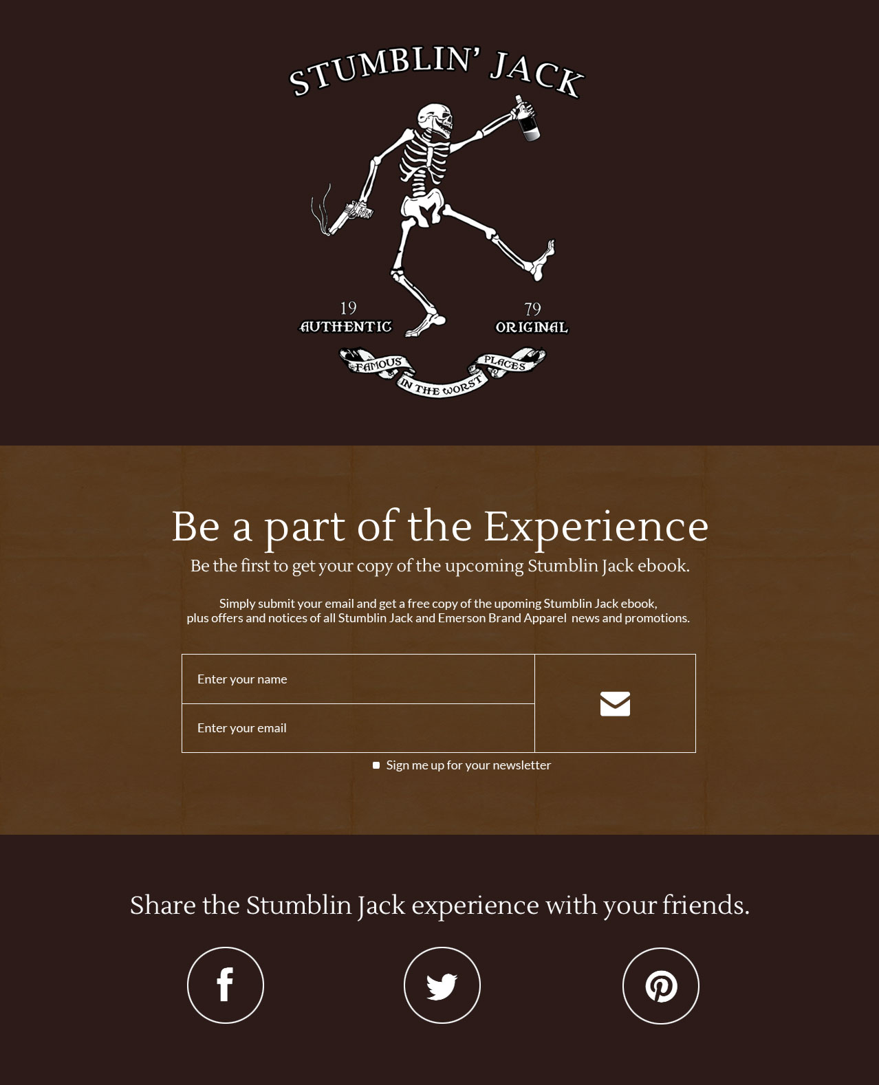 Stumblin Jack Website Design by Sylvia Guillen